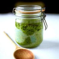 Pesto in preserving jar