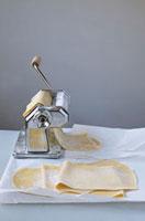 Pasta dough with a pasta maker