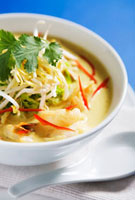 Laksa with sprouts (Asia)