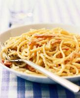 Spaghetti alla carbonara (Pasta with bacon & egg sauce,Ita