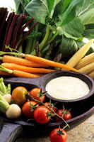Aioli and fresh vegetables