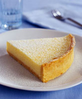 A piece of lemon cheesecake