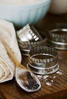 Cutters and wooden spoon