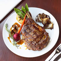 Steak Dinner; Grilled Steak with Grilled Vegetables