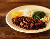 Feijoada (black beans,rice,meat and cabbage,Brazil)