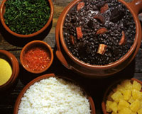 Brazilian bean dish with meat (Feijoada)