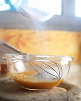 Creme Anglaise (vanilla sauce) being prepared