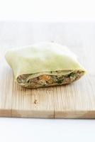 Maultasche (Swabian ravioli) on a wooden board