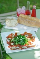 Bresaola rucola e parmigiano (bresaola with rocket and parme