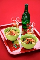 Noodle salad with chillis and beer (China)