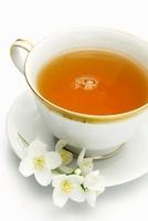 Jasmin tea in a porcelain cup
