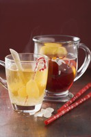 Mulled wine with ginger and fruit punch