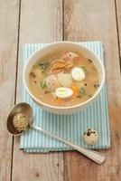 Zalewajka (soup with potatoes, mushrooms, bread and quails'  22199065848| 写真素材・ストックフォト・画像・イラスト素材|アマナイメージズ