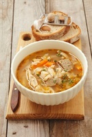 Tripe soup with beef and vegetables (Poland)