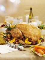 Traditional roast turkey for Christmas