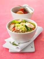 Barley and Chinese cabbage stew with pork