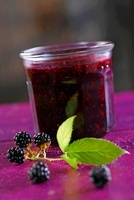 A jar of blackberry jam