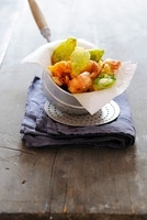 Langustine and basil tempura