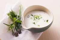 Sour cream sauce with herbs