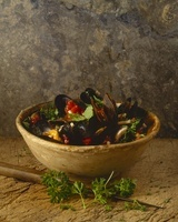 Mussel soup with maccaroni