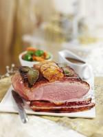 Glazed roast pork for Christmas dinner