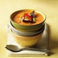 Avocado and Chicken Chowder Garnished with Corn Chips; In St 22199068802| 写真素材・ストックフォト・画像・イラスト素材|アマナイメージズ