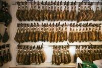 Air dried ham in a shop, De Jabugo la Canada (Jabugo, Spain)