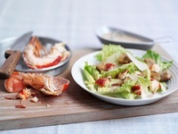 Caesar salad with lobster