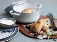Oven roasted Cornish chicken