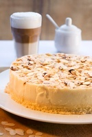 Almond cake and coffee