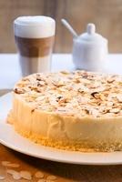 Almond cake and coffee 22199069589  写真素材・ストックフォト・画像・イラスト素材 アマナイメージズ