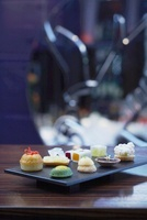 An assortment of petit fours and chocolates