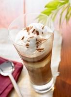 Ice cream chocolate (Hot chocolate with ice cream and cream)