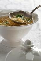 Passatelli in brodo (soup with pastry pieces, Emilia Romagna