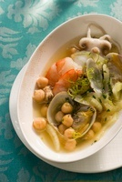 Minestra di ceci e frutti di mare (chickpea soup with seafoo