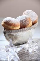 Doughnuts with vanilla cream for Christmas