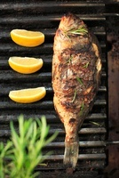 Grilled bream with rosemary