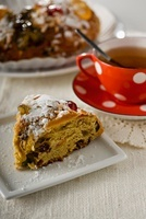 Bolo Rei (three king's cake, Portugal) and tea