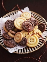 Various button biscuits