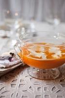Cream of pumpkin soup with cream