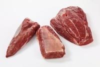 Beef chuck fillet, clod and top blade steak