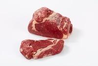 Rib roast and steak from rib-eye steak