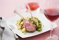 Lamb cutlet with Gremolata crust and potatoes