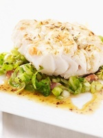Cod fillet on cabbage