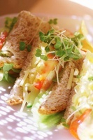 Vegetable and cress sandwiches