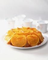 Orange dessert with rum