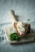 Bread with smoked mackerel rillette
