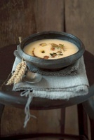 Turnip soup with croutons