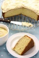 Sponge cake with butter cream