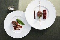 Venison medallions with two accompaniments